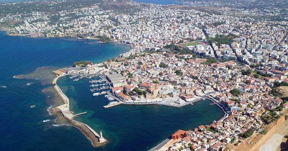 Aerial photo of Chania